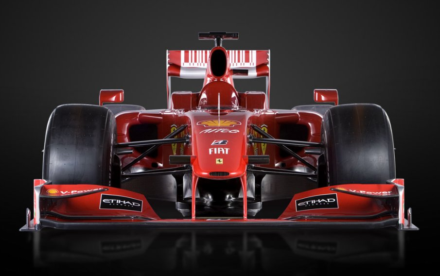 Front view of Ferrari F60 Formula 1 Car